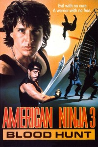 "Poster for the movie ""American Ninja 3: Blood Hunt"""