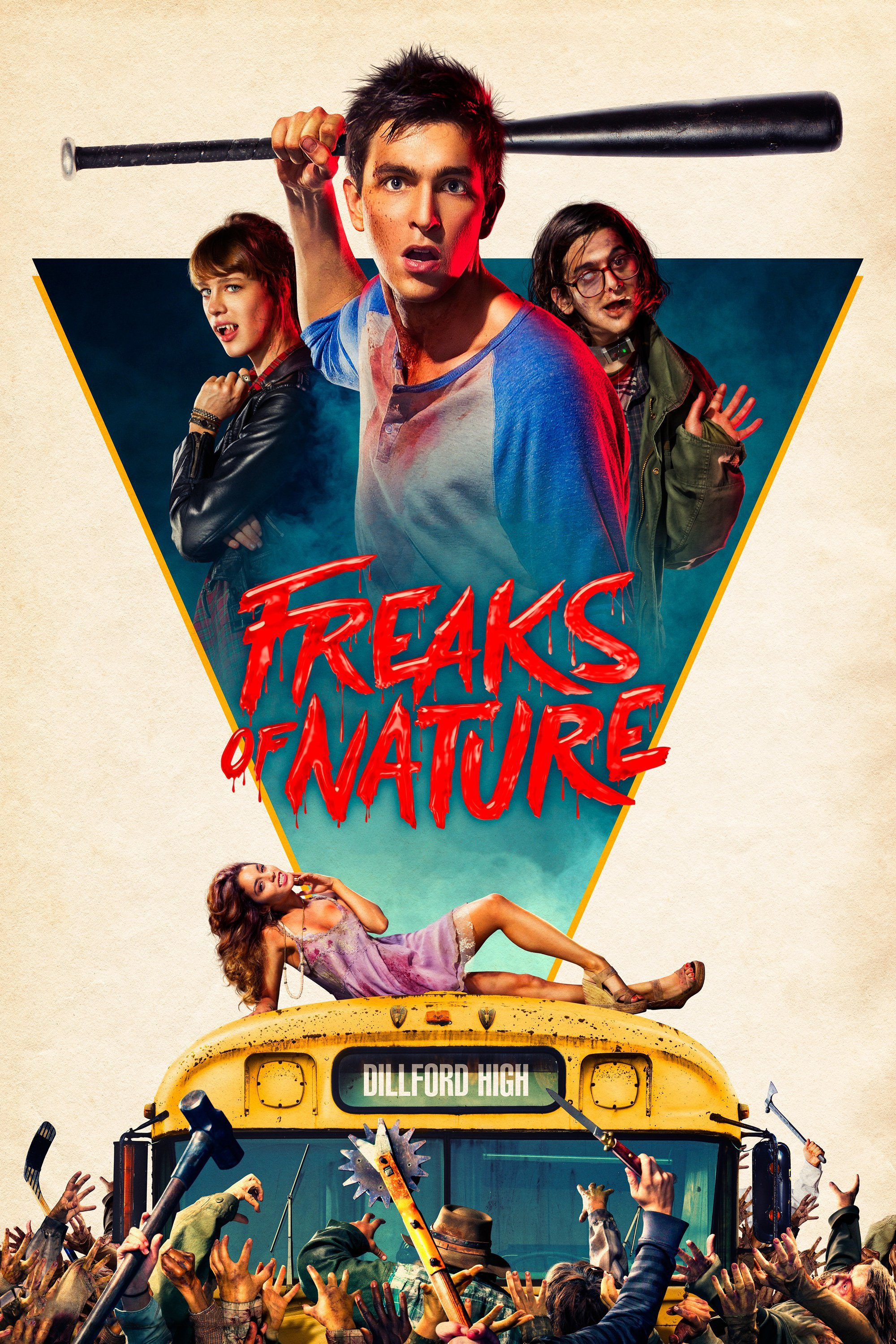 "Poster for the movie ""Freaks of Nature"""