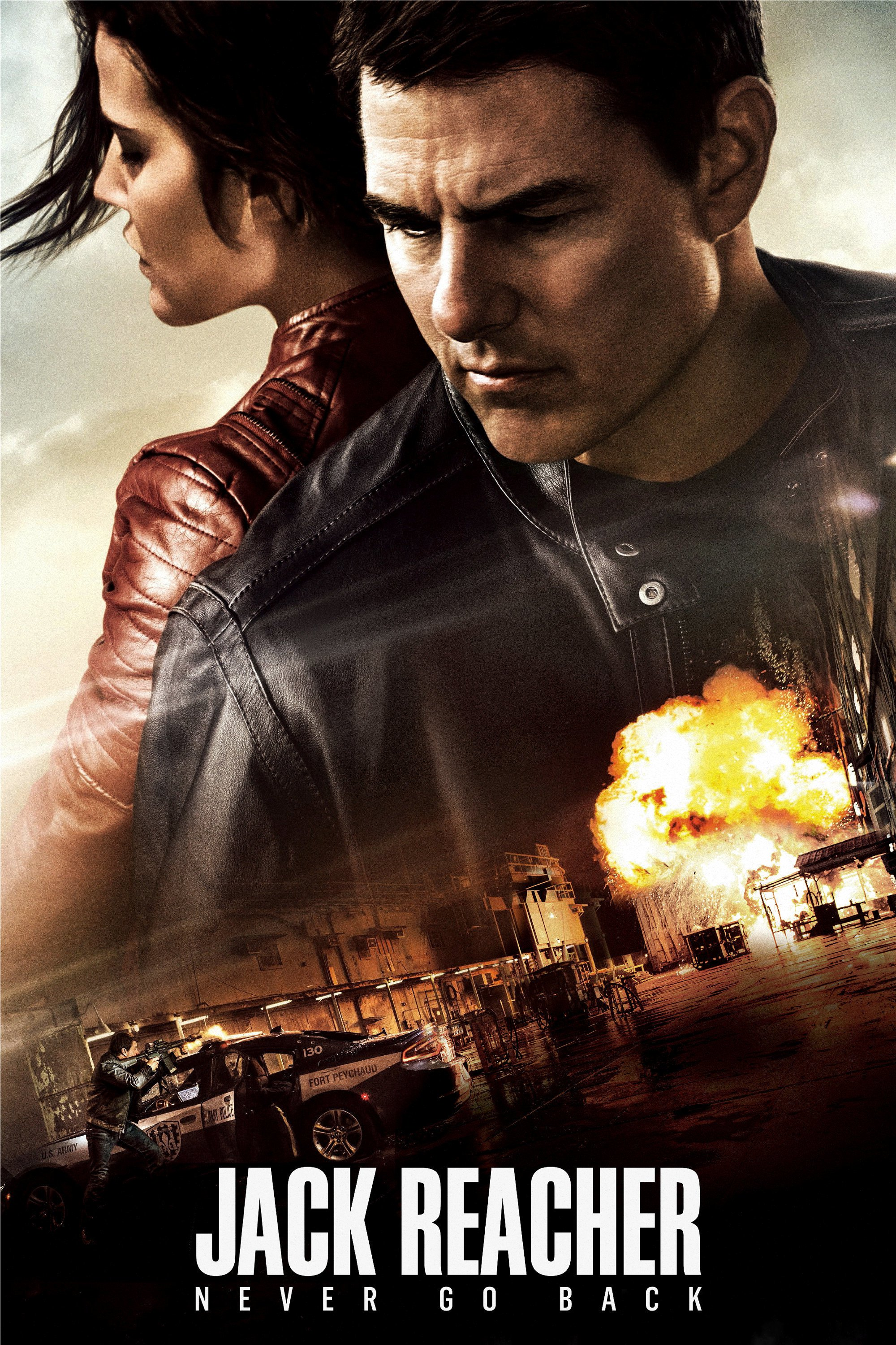 "Poster for the movie ""Jack Reacher: Never Go Back"""