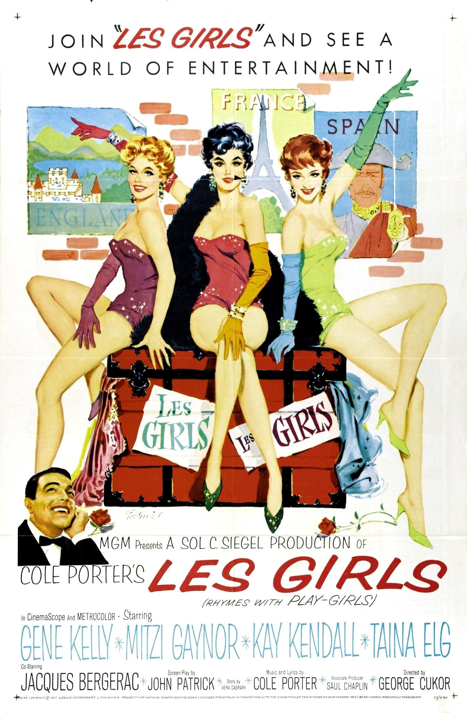 """Poster for the movie """"Les Girls"""""""