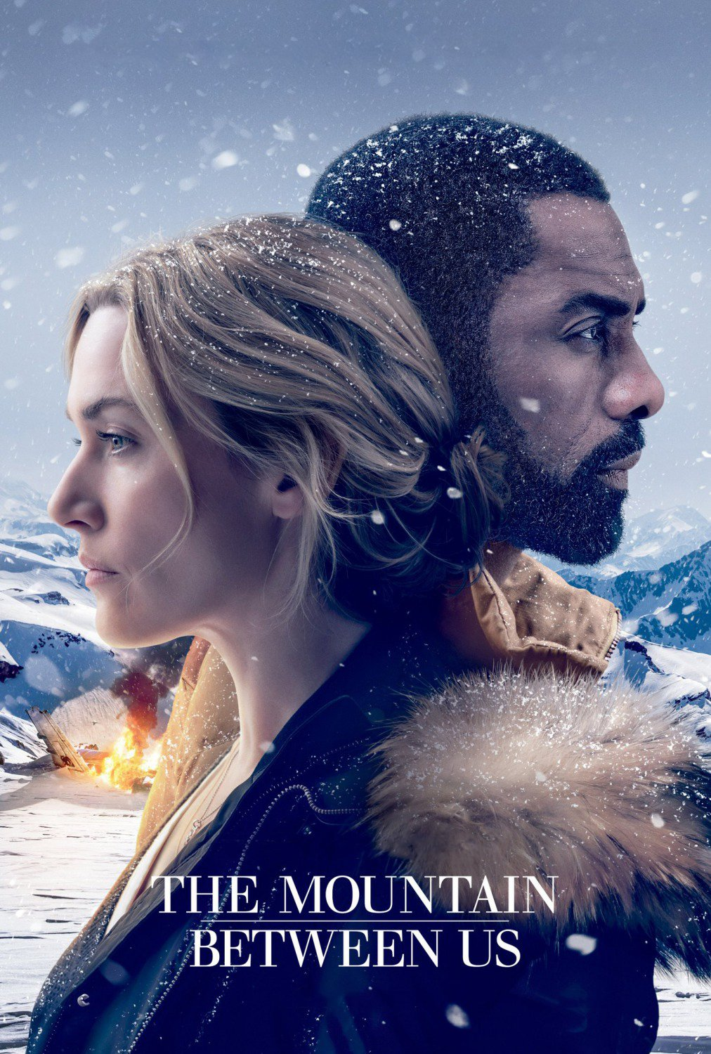 "Poster for the movie ""The Mountain Between Us"""