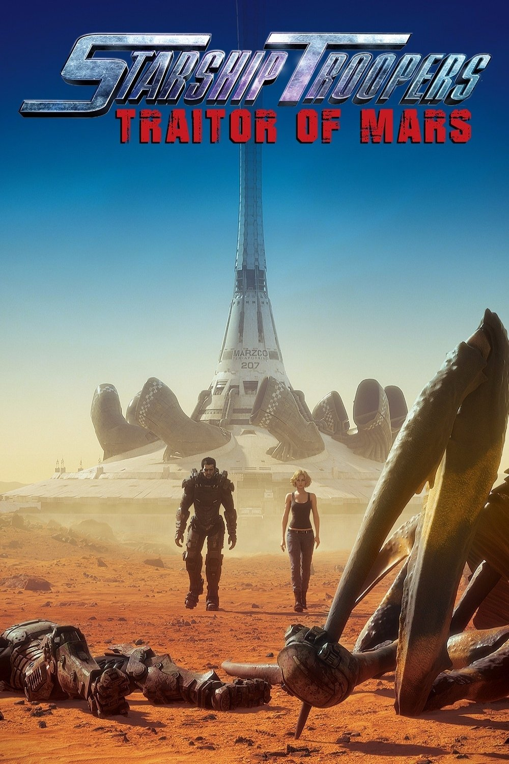 "Poster for the movie ""Starship Troopers: Traitor of Mars"""