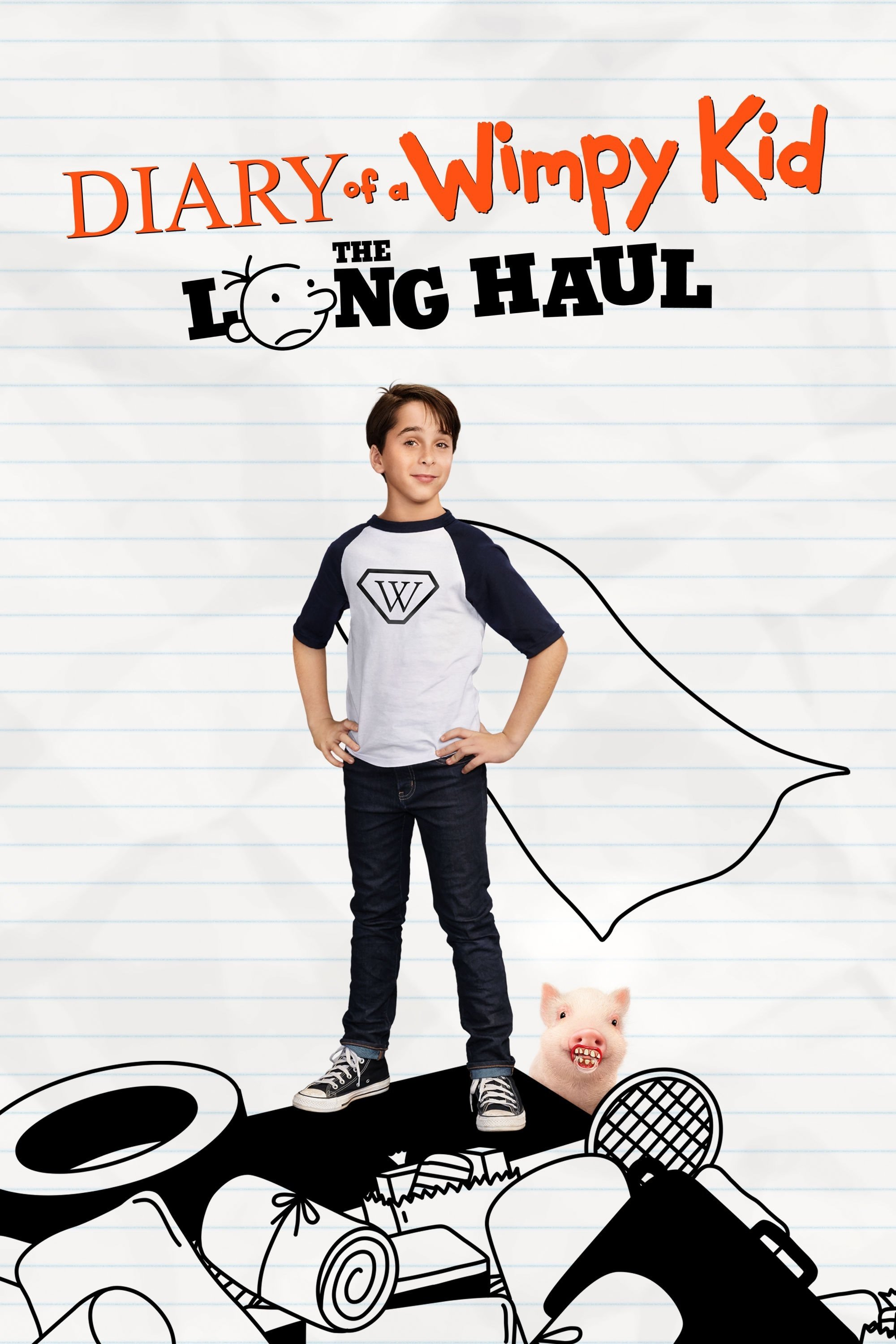 "Poster for the movie ""Diary of a Wimpy Kid: The Long Haul"""