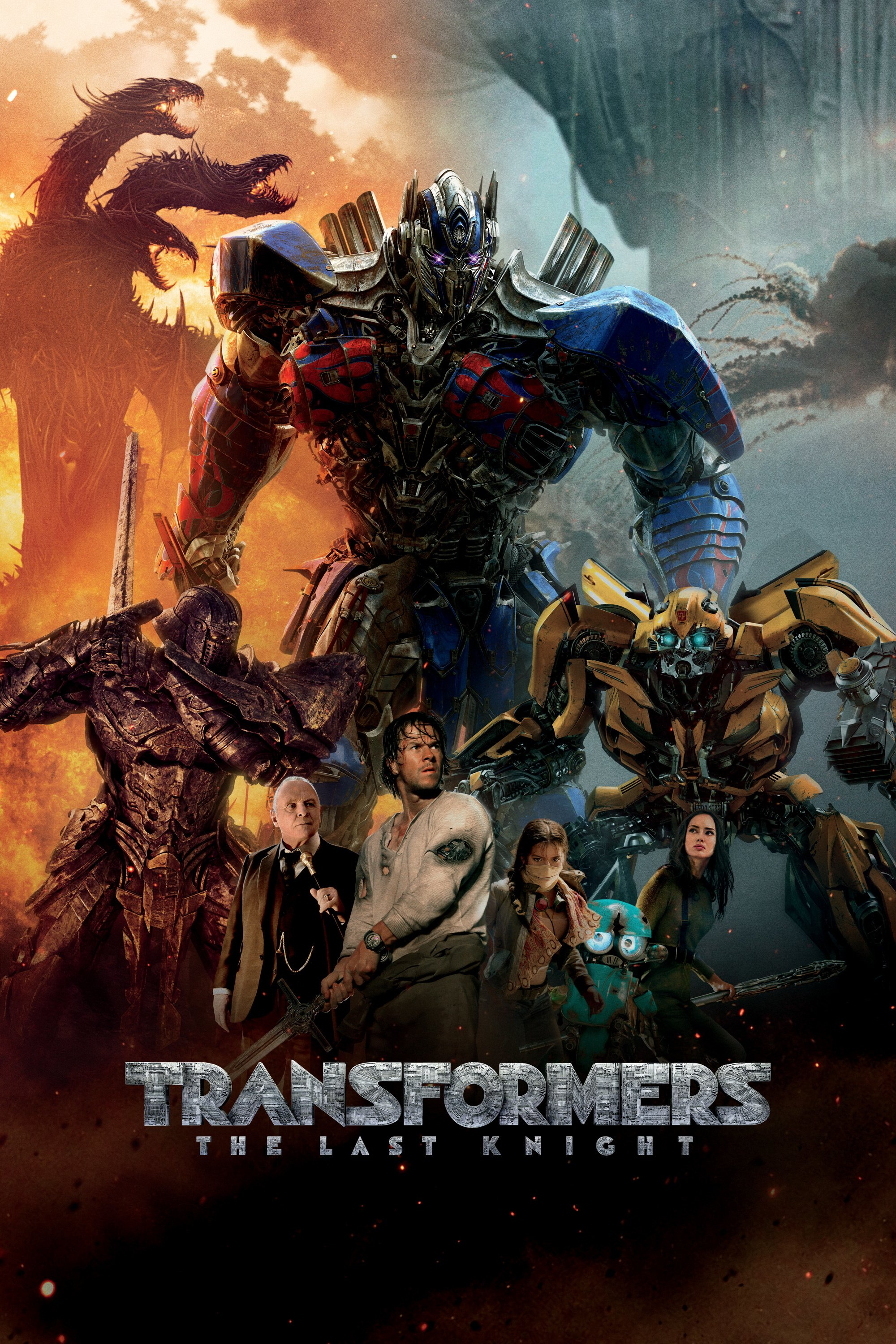 "Poster for the movie ""Transformers: The Last Knight"""
