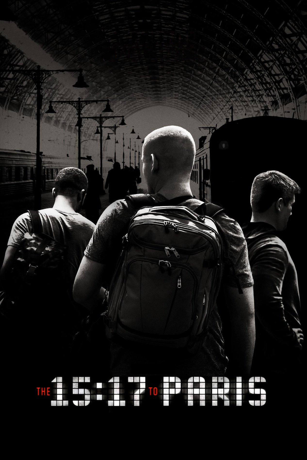 "Poster for the movie ""The 15:17 to Paris"""