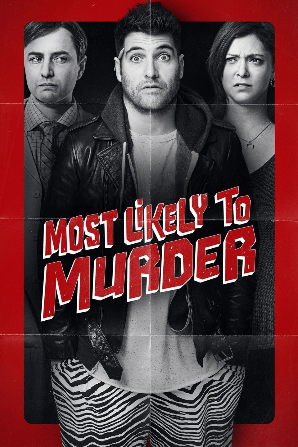 "Poster for the movie ""Most Likely to Murder"""