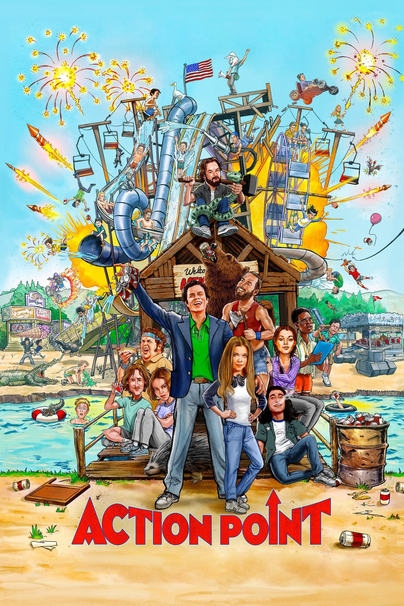 "Poster for the movie ""Action Point"""