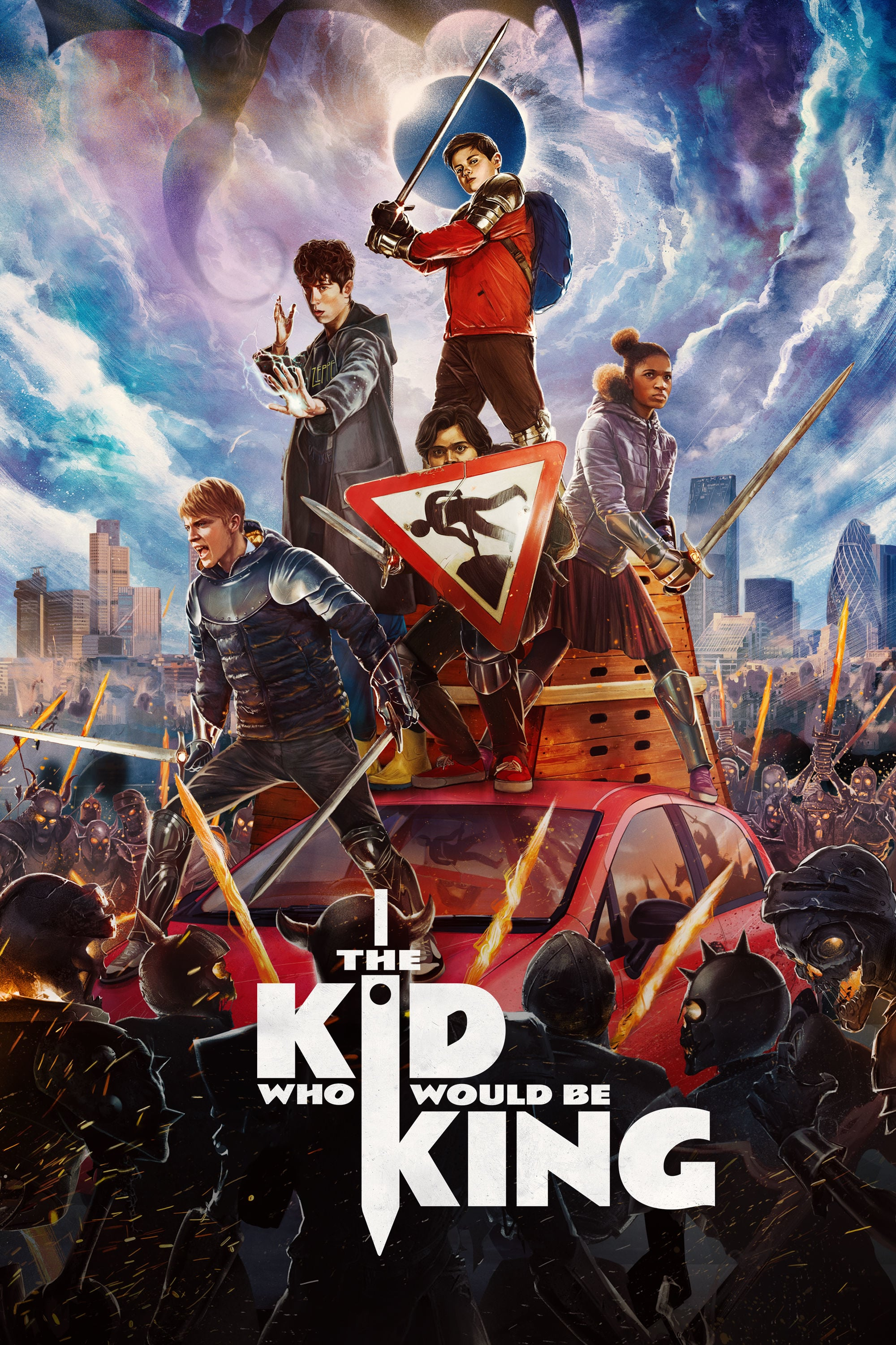 "Poster for the movie ""The Kid Who Would Be King"""