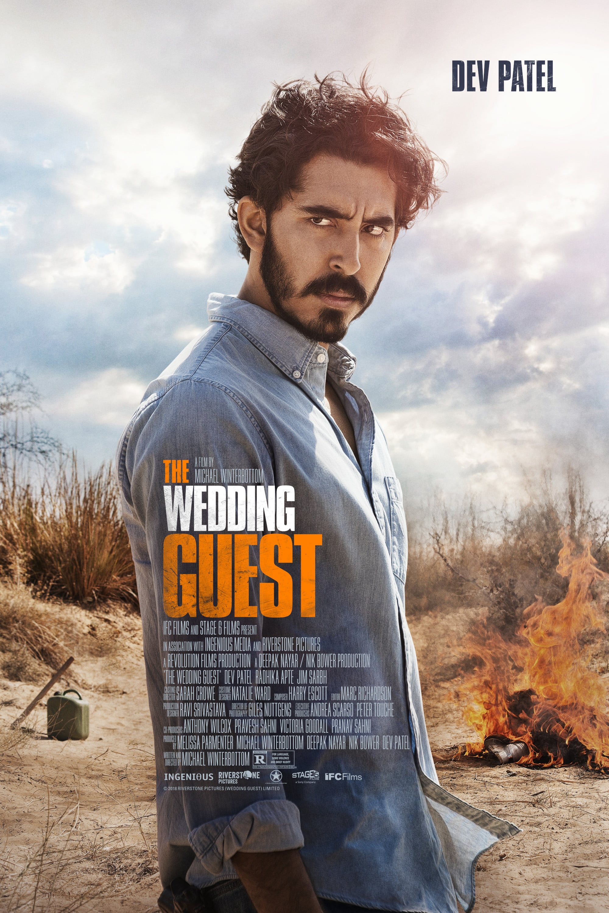 "Poster for the movie ""The Wedding Guest"""
