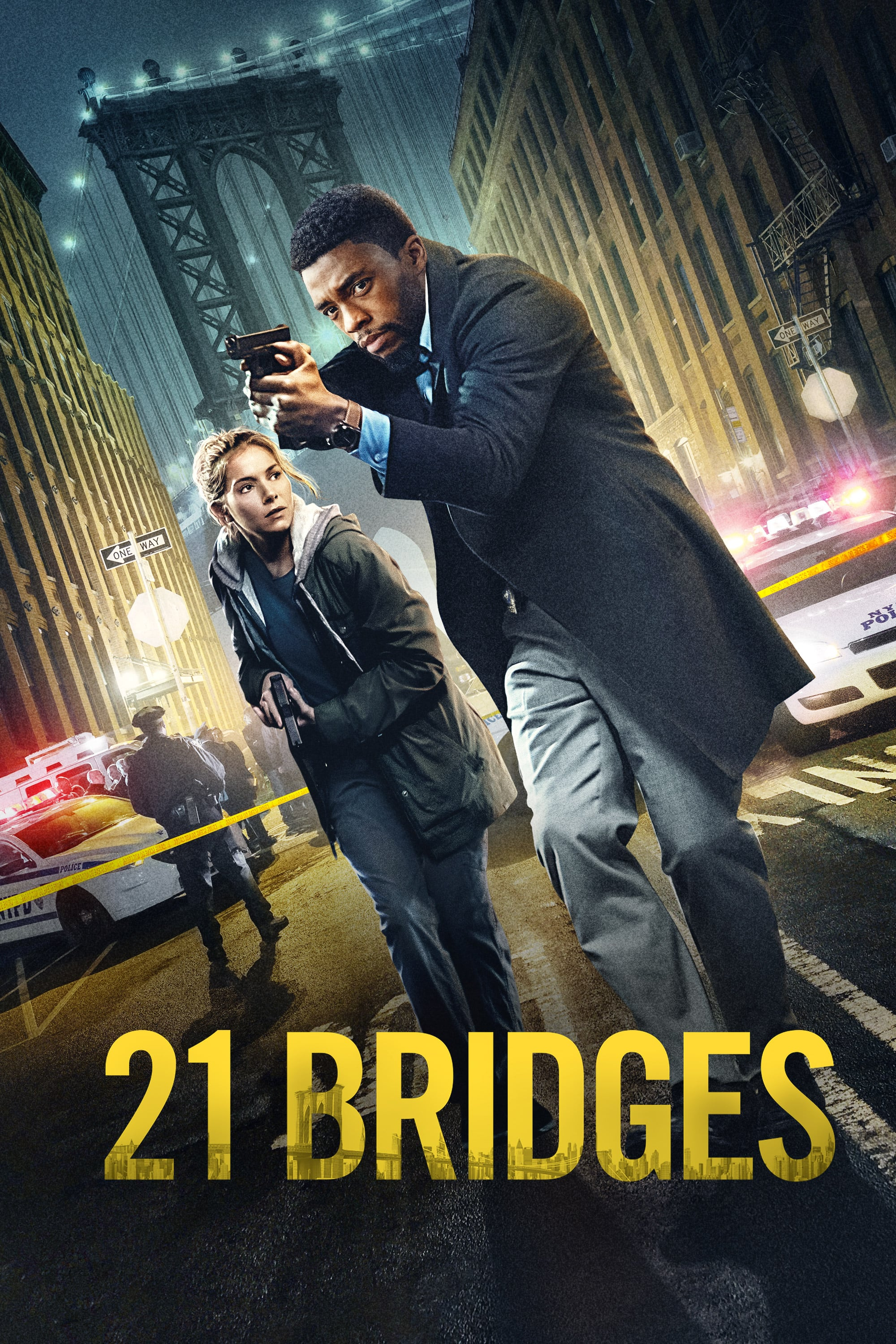 "Poster for the movie ""21 Bridges"""