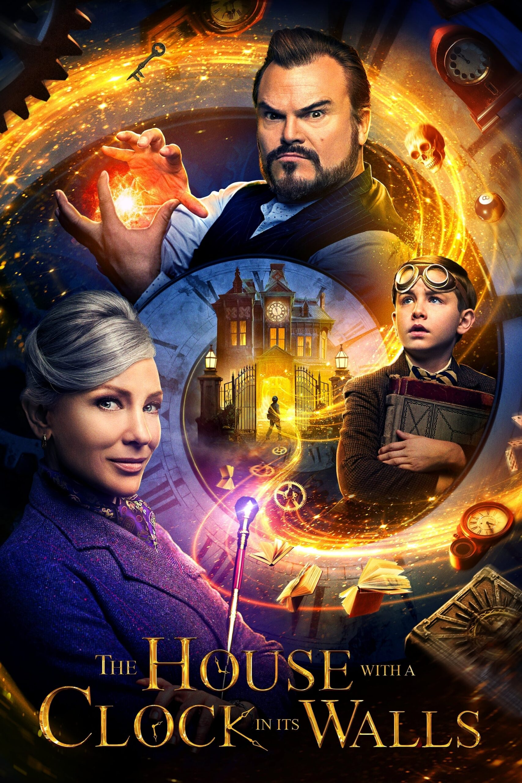 "Poster for the movie ""The House with a Clock in Its Walls"""