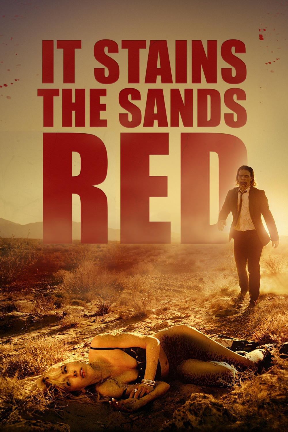 "Poster for the movie ""It Stains the Sands Red"""