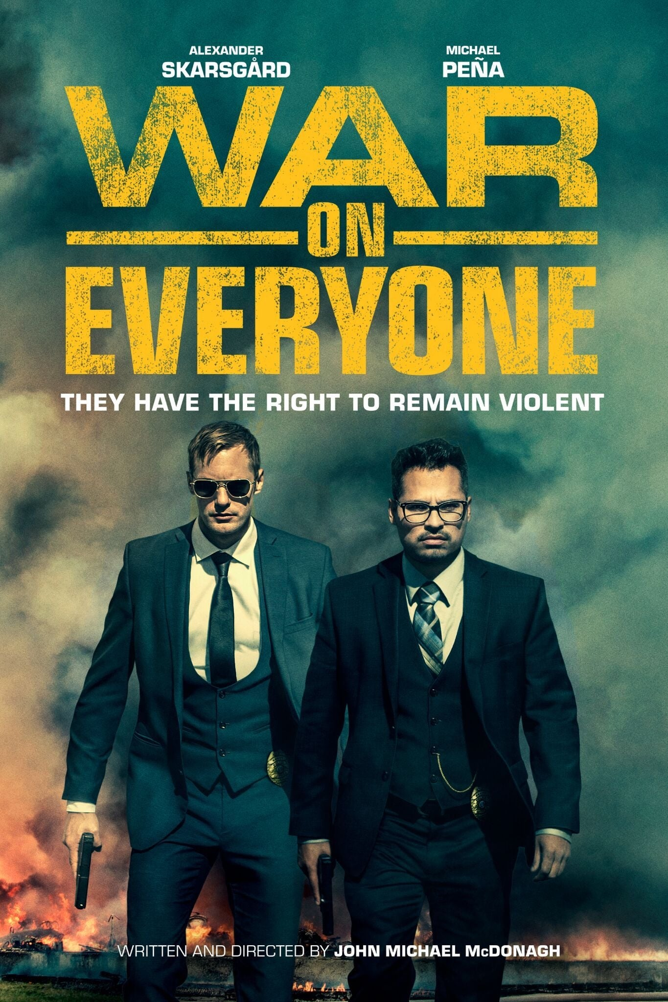 """Poster for the movie """"War on Everyone"""""""
