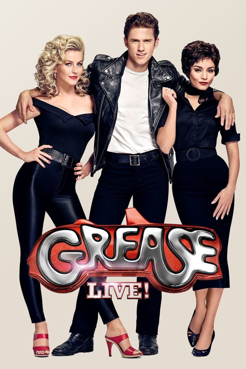 """Poster for the movie """"Grease Live"""""""