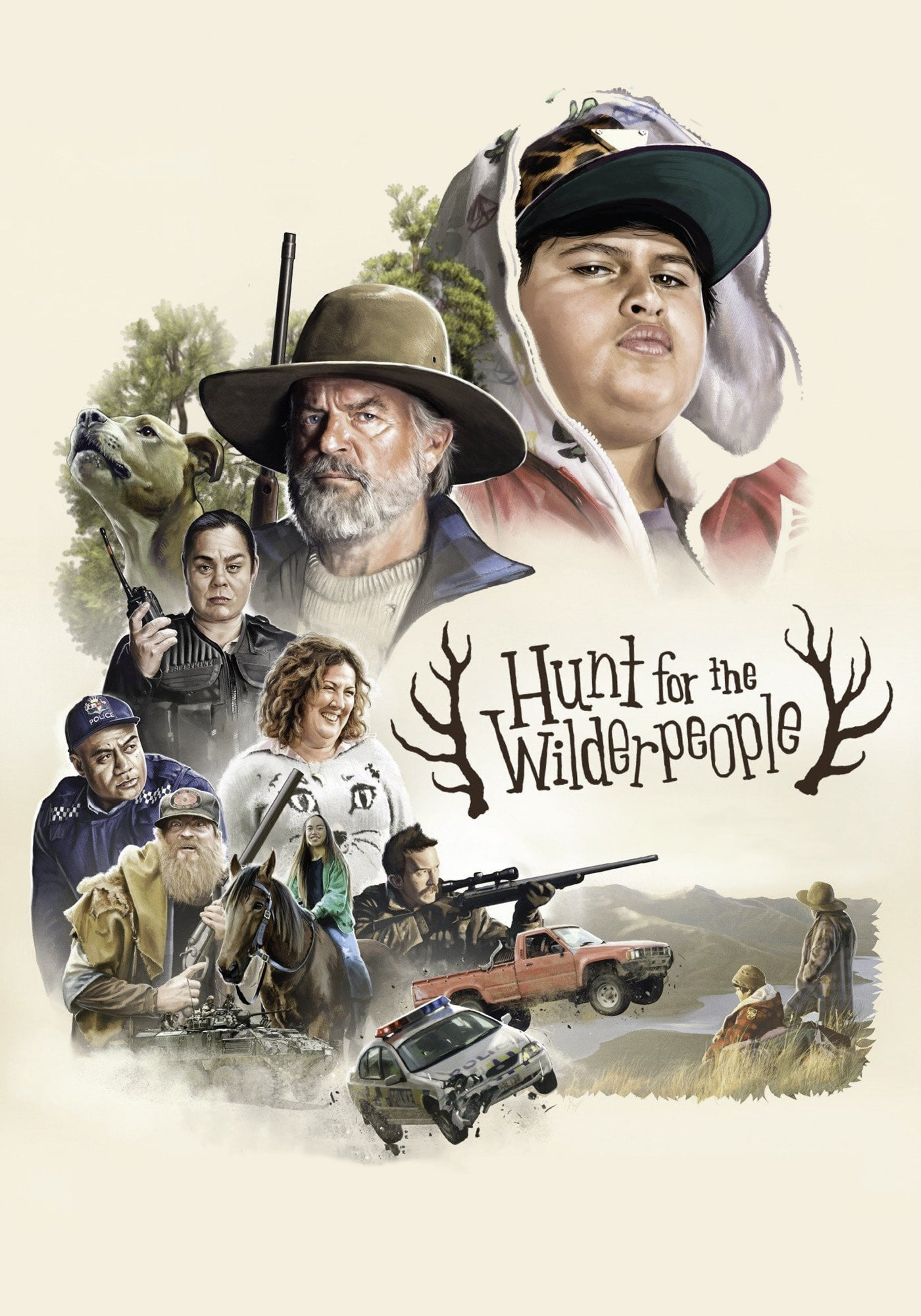 "Poster for the movie ""Hunt for the Wilderpeople"""
