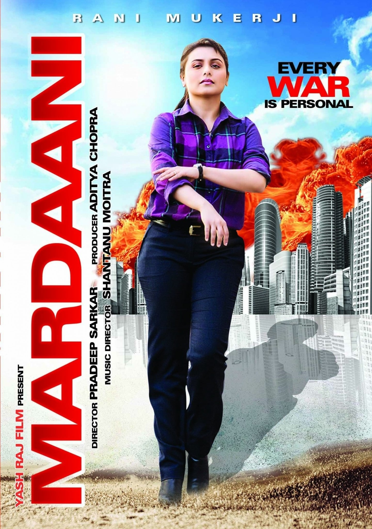 """Poster for the movie """"Mardaani"""""""