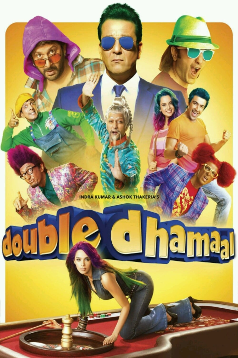 """Poster for the movie """"Double Dhamaal"""""""